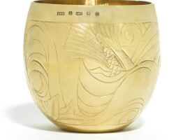 8. an elizabeth ii 18ct gold 'water'beaker, rod kelly, london, 2007 |