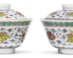 4. a pair of doucai bowls and covers qing dynasty, daoguang period