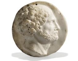 42. italian, 17th centuryrelief medallion with the profile of cicero |