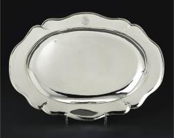 36. a german silver meat dish, abraham drentwett iv, augsburg, 1763-65