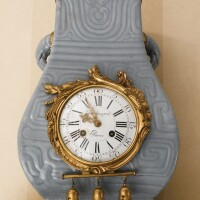 2. a louis xv style ormolu-mounted chinese blue-glazed porcelain clock 19th century, the dial signed balthazar a paris