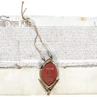 48. document of jacobus de mucciarellis, dated 23 june 1475 at st peter's, rome