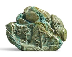 3628. an inscribed turquoise mountain qing dynasty, qianlong period |