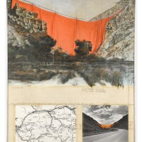 129. christo | valley curtain (project for colorado) rifle, grand hogback