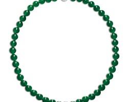 1803. 翡翠珠 配 鑽石 項鏈