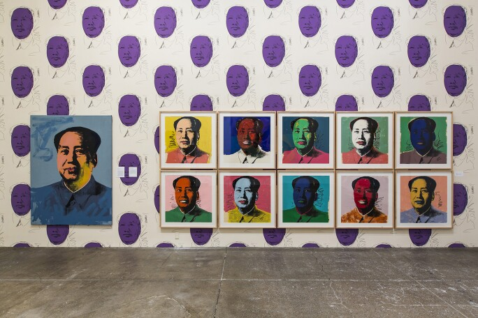 The Andy Warhol Museum, Pittsburgh, floor 4 - Mao installation