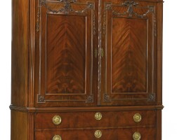 208. a dutch neoclassical carved mahogany cabinet late 18th century