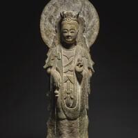 203. 北齊 石灰石雕菩薩立像 |