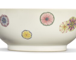 542. a fine famille-rose 'flower ball' bowl qianlong seal mark and period |