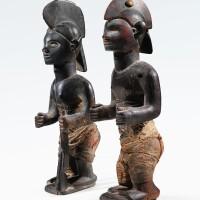 58. couple de statuettes, bembé, république démocratique du congo |