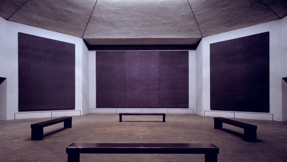 Interior of the Rothko Chapel