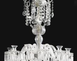 370. a georgian style twelve-light cut-glass chandelier