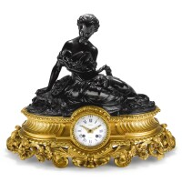 2504. bailly | a gilt brass louis xvi-style striking mantel clockcirca 1870