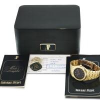 15. 愛彼(audemars piguet) | 4100ba型號「royal oak」黃金鍊帶腕錶備日期顯示,年份約1981。