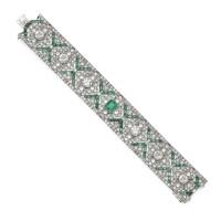 39. emerald and diamond bracelet, 1930s