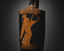 1. red-figure lekythos, attributed to the pan painter