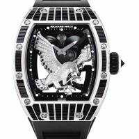 228. richard mille | 「rm 57-02 falcon」獨特白金鑲鑽石及剛玉鏤空陀飛輪腕錶備動力儲存顯示,年份約2017。