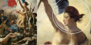 Liberty Leads the Way in Delacroix's Revolutionary Portrait