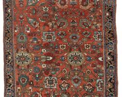 8. an unusually small bijar rug, northwest persia