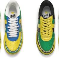 6. bape x kaws | bapesta fs-029 kaws chompers (i. yellow / green ; ii. green / black)