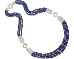 15. sapphire and diamond necklace