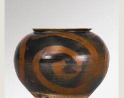 3. 'the vortex jar': anextremely rareblack-glazed brush-painted jar song dynasty