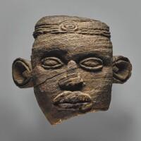 2. bamileke head,bansoa kingdom, western grassfields region,cameroon