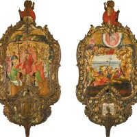 584. a large double-sided processional icon, greece, 1781