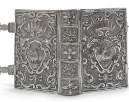 74. an italian silver book binding