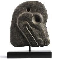 3054. 晚古典期(約公元前550-950年) 瑪雅石獸首