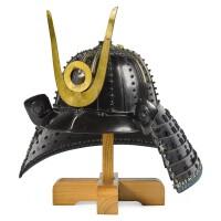 4. a koboshi kabuto[helmet] edo period, 17th century signed joshu ju saotome iesada |