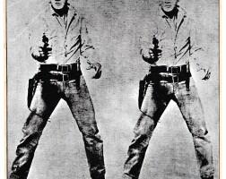 "9. richard pettibone | andy warhol,""double elvis"", 1963"