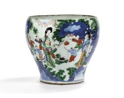 10. vase en porcelaine wucai epoque transition, xviie siècle |
