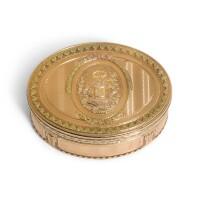 Preview. a four-colour gold snuff box, l.p. barbier or n.p. bricart, paris, 1774/5 |
