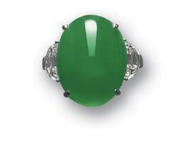 1091. jadeite and diamond ring