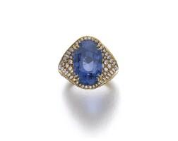 41. sapphire and diamond ring