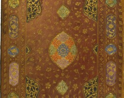 13. a gilt-stamped leather binding, persia, safavid, 16th century