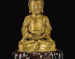 306. a gilt-bronze figure of amitabha ming dynasty, 16th / 17th century |