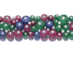 263. gem-set and diamond bracelet, bulgari