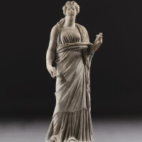 25. a roman marble figure of a woman or goddess, 2nd half of the 2nd century a.d. | a roman marble figure of a woman or goddess
