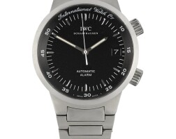 7. iwc | a stainless steel automatic divers' watch with alarm, date and braceletref 3537-002 case 2766117circa 2002