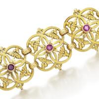 28. ruby bracelet, wièse, late 19th century