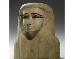 25. a wood mummy mask, 26th dynasty, 664-525 b.c.