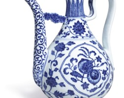 18. a fine and rare blue and white ewerseal mark and period of qianlong  
