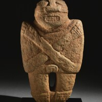 9. diquís stone figure, period vi, ca. a.d. 1000-1500