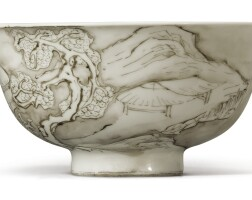 513. a grisaille-painted 'riverscape' bowl yongzheng mark and period