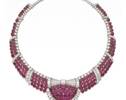 308. attractive ruby and diamond necklace