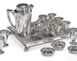 9. an american silver cocktail set and smoking set, international silver co., meriden, ct and graff, washbourne & dunn, new york, circa 1925 |