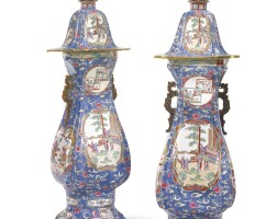 29. a pair of massive c. j. mason & co. ironstone hall vases and covers circa 1830-45