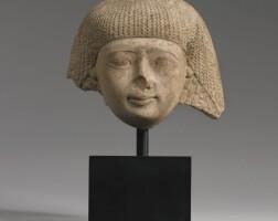 46. an egyptian limestone head of a man, 19th dynasty, 1292-1190 b.c.